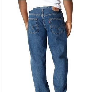 Levi's 550 Relaxed Fit Jeans Dark Stonewash 36x30
